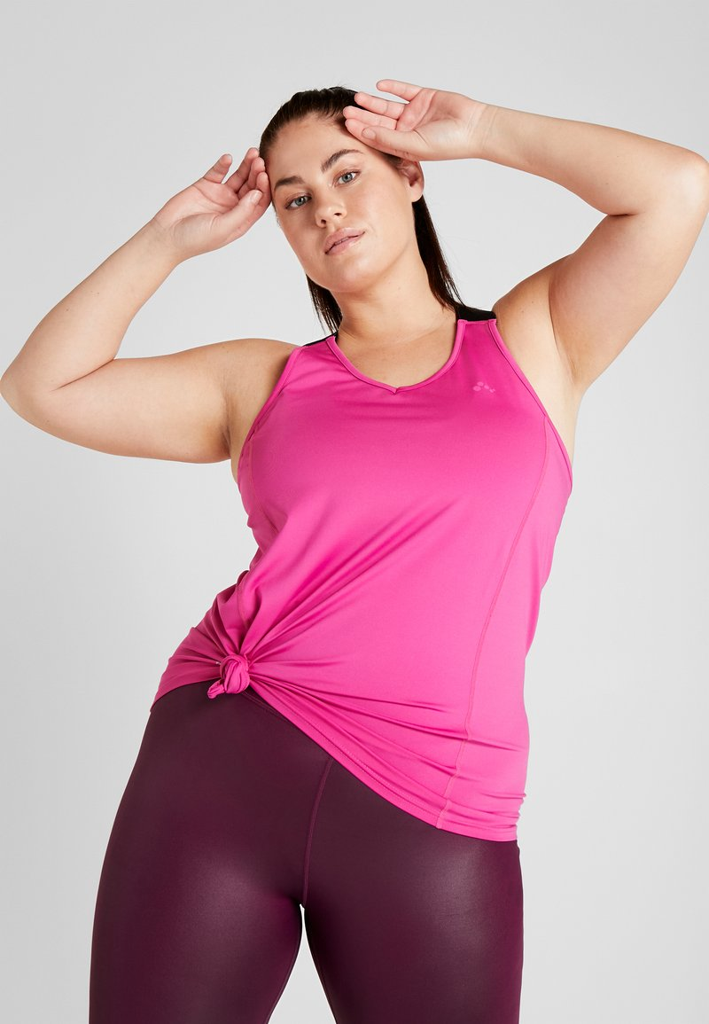 ONLY Play - ONPGOLDIE TRAINING CURVY - Top - very berry