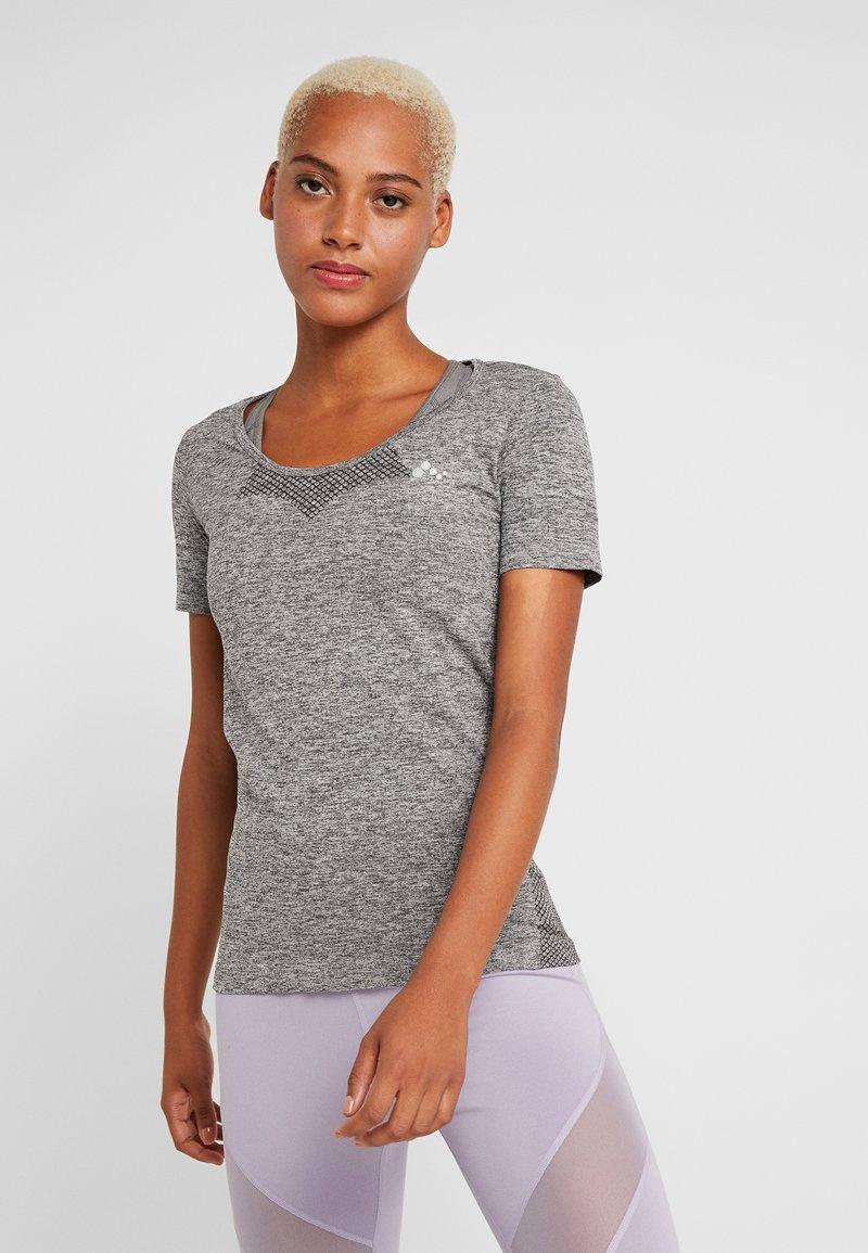 ONLY Play - ONPORA CIRCULAR - Camiseta estampada - dark grey melange