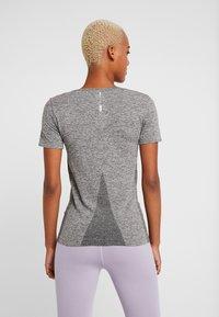 ONLY Play - ONPORA CIRCULAR - Camiseta estampada - dark grey melange - 2