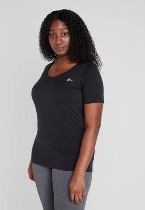 ONPORA CIRCULAR CURVY - Camiseta estampada - black