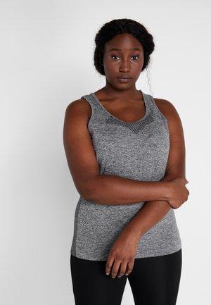 ONPORA CIRCULAR CURVY - Funkční triko - dark grey melange