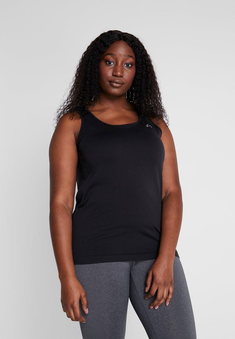 ONLY Play - ONPORA CIRCULAR CURVY - Camiseta de deporte - black
