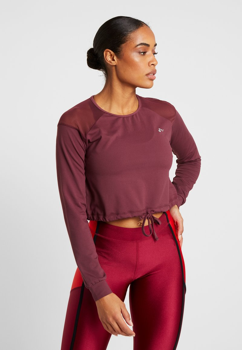 ONLY Play - ONPJAVA CROPPED TEE - Long sleeved top - purple