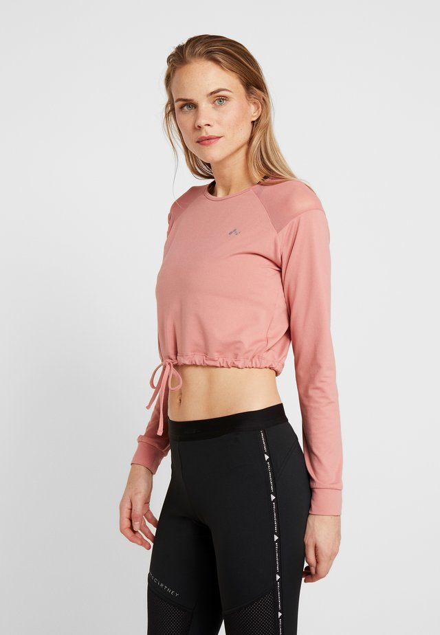 ONPJAVA CROPPED TEE - Long sleeved top - dusty rose