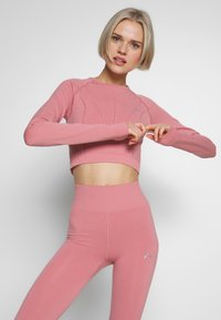 ONLY Play - ONPJAVA CIRCULAR CROPPED - Sports shirt - dusty rose - 0