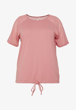 ONPJAVA TEE CURVY - T-shirts - dusty rose