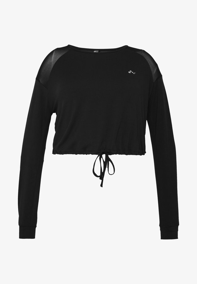 ONPJAVA CROPPED CURVY - Långärmad tröja - black
