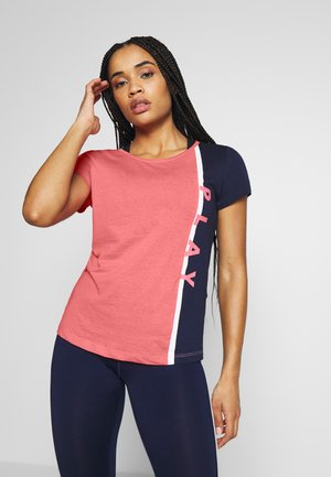 ONPFELICE LIFE REGULAR TEE - Print T-shirt - strawberry pink/maritime blue