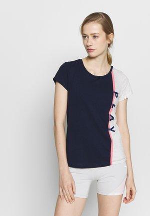 ONPFELICE LIFE REGULAR TEE - T-shirts med print - maritime blue/white melange