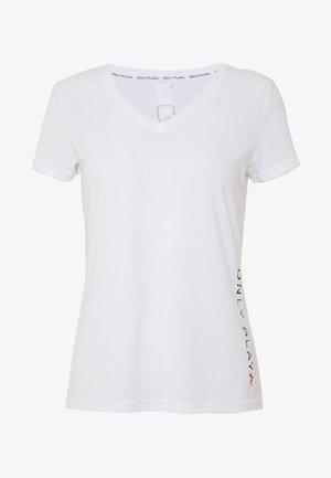 ONPPERFORMANCE V NECK TEE - T-Shirt basic - white/black/red