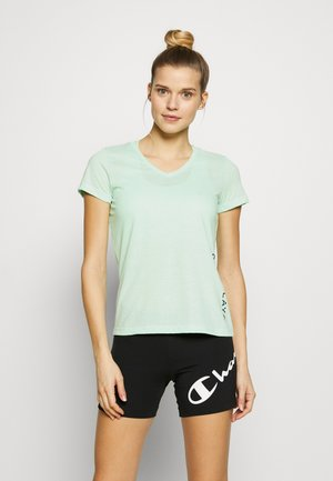 ONPPERFORMANCE V NECK TEE - T-shirt basic - green ash/black