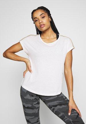ONPJYNX LIFE LOOSE TEE - T-shirt print - lilac ash/melange white gold