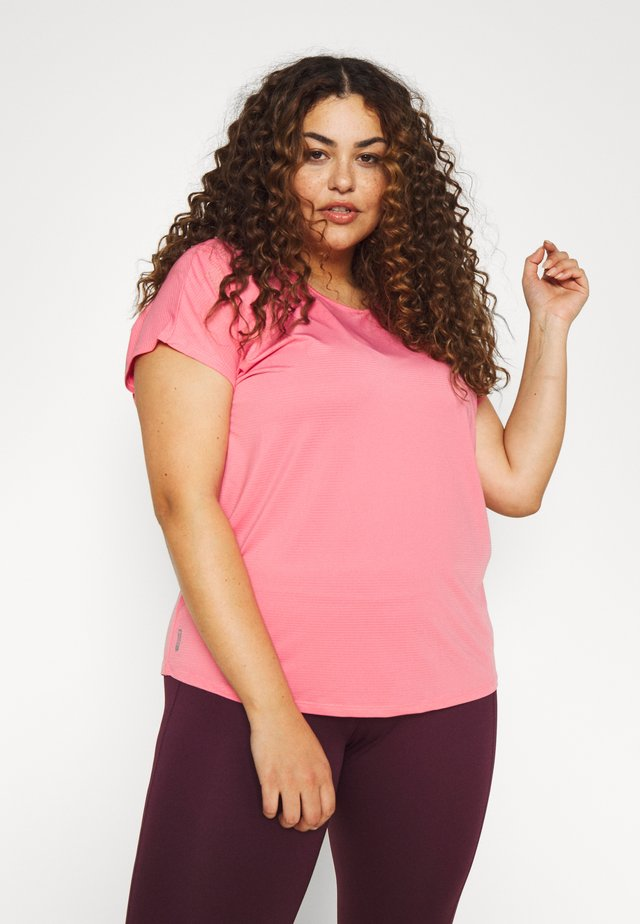 ONPMILEY LOOSE TRAINING TEE - Printtipaita - strawberry pink/white gold