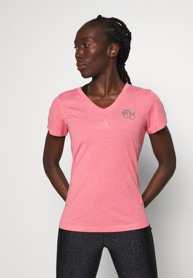 ONPMAE V NECK TEE - T-shirt basique - strawberry pink