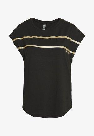 ONPFELICE LOOSE TRAINING TEE - Printtipaita - black/white gold