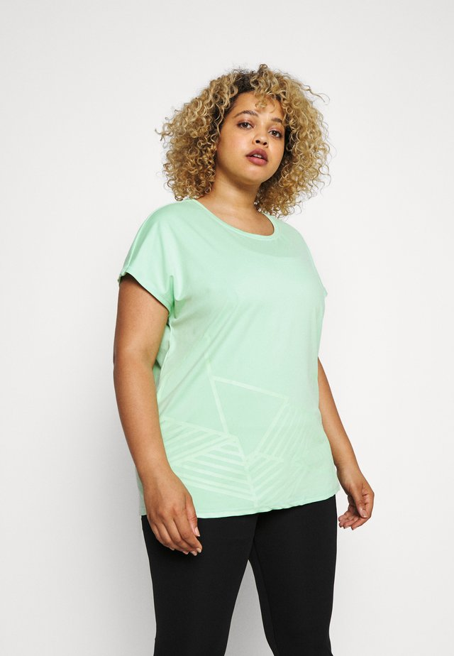 ONPMAGDALENA LOOSE TEE  - Print T-shirt - green ash