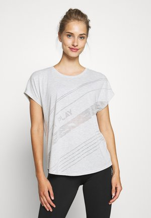 ONPMAURA LOOSE BURNOUT TEE - T-shirts med print - white melange
