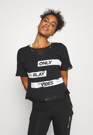 ONPMETTA LIFE SHORT TEE - Camiseta estampada - black/white