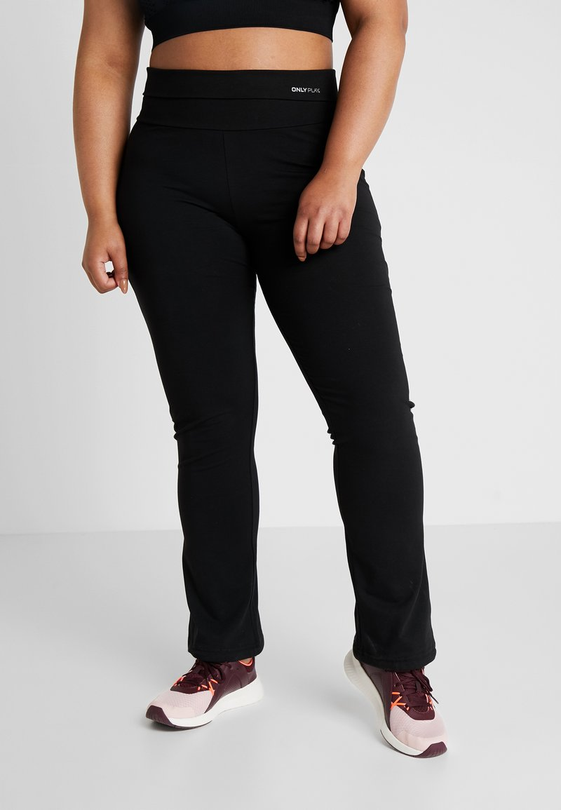 ONLY Play - ONPFOLD JAZZ PANTS CURVY - Tights - black