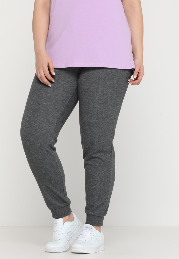ONLY Play - ONPELINA PANTS CURVY - Tracksuit bottoms - dark grey melange