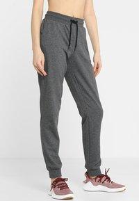 ONLY Play - ONPELINA PANTS - Spodnie treningowe - dark grey melange - 0