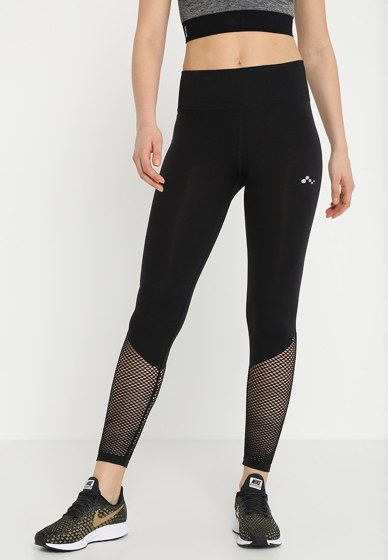 ONLY Play - ONPZALLA CIRCULAR HIGH WAIST - Tights - black