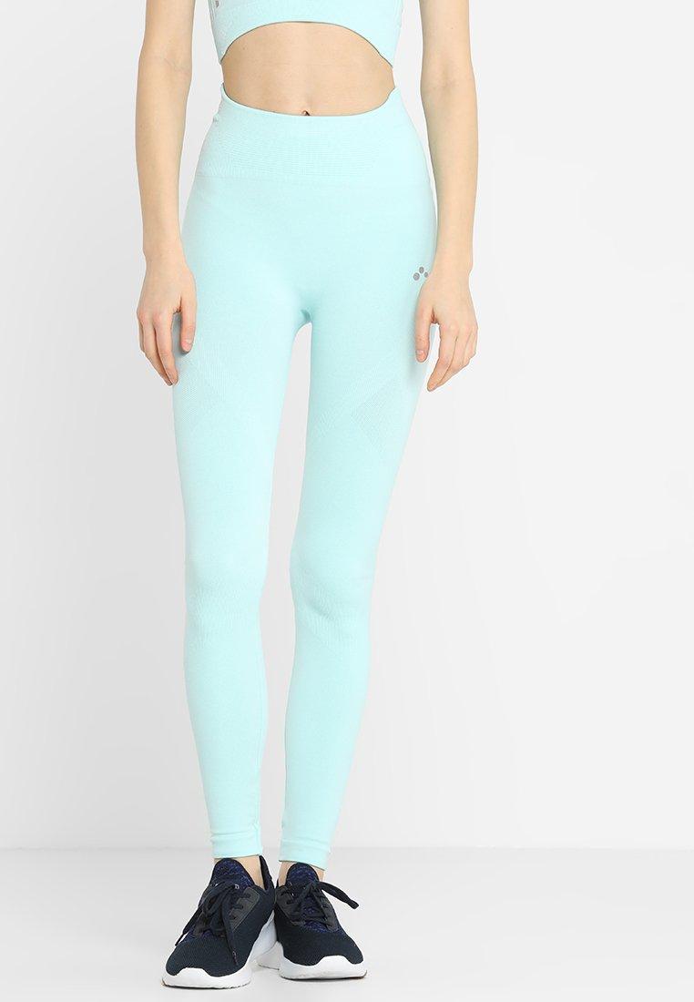ONLY Play - ONPZELDA CIRCULAR HIGH WAISTED - Leggings - blue tint