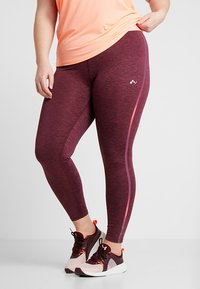 ONLY Play - ONPCALEXIA TRAINING CURVY - Tights - paradise pink/fig/neon - 0