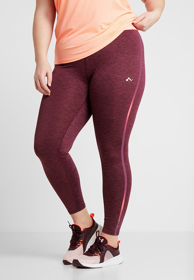ONLY Play - ONPCALEXIA TRAINING CURVY - Tights - paradise pink/fig/neon