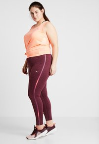 ONLY Play - ONPCALEXIA TRAINING CURVY - Tights - paradise pink/fig/neon - 1