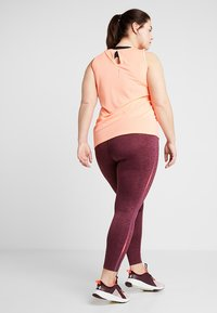 ONLY Play - ONPCALEXIA TRAINING CURVY - Tights - paradise pink/fig/neon - 2