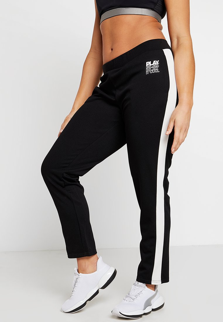 ONLY Play - ONPHERMOSA PANTS CURVY - Tracksuit bottoms - black/white