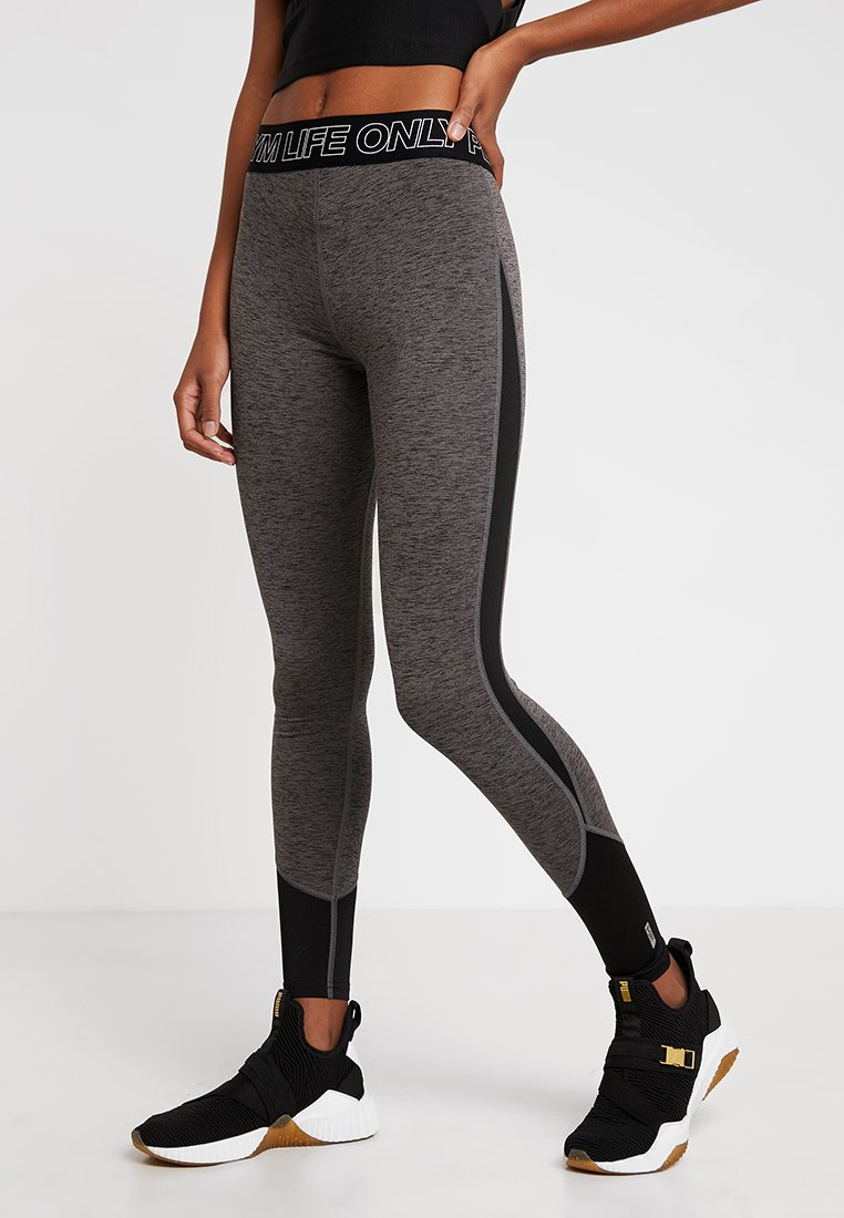 ONLY Play - ONPJACEY TRAINING  - Leggings - dark grey melange/black