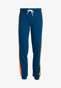 ONLY Play - ONPTANGERINE LOOSE TRACK PANTS - Tracksuit bottoms - gibraltar sea/celosia orange - 3