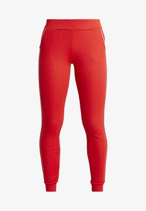 JOANNA REGULAR PANTS - Tights - flame scarlet/white