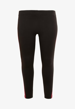 JOYCE LEGGINGS CURVY - Medias - black/beet red