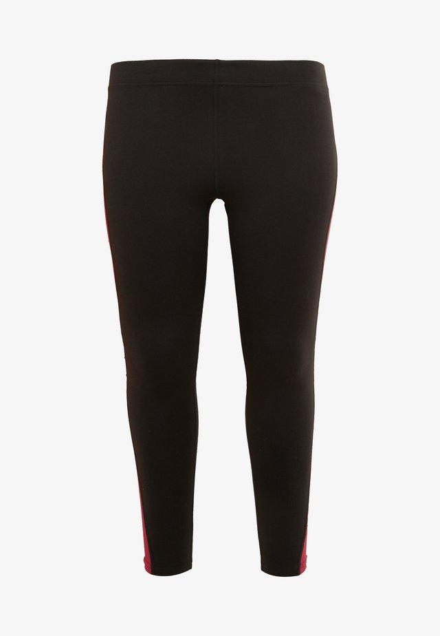 JOYCE LEGGINGS CURVY - Tights - black/beet red