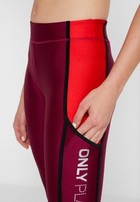 ONLY Play - ONPJASLYN TRAINING - Collant - beet red/flame scarlet - 6