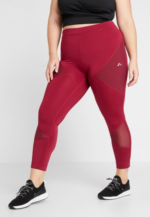 ONPAUDREY TRAINING - Legging - beet red
