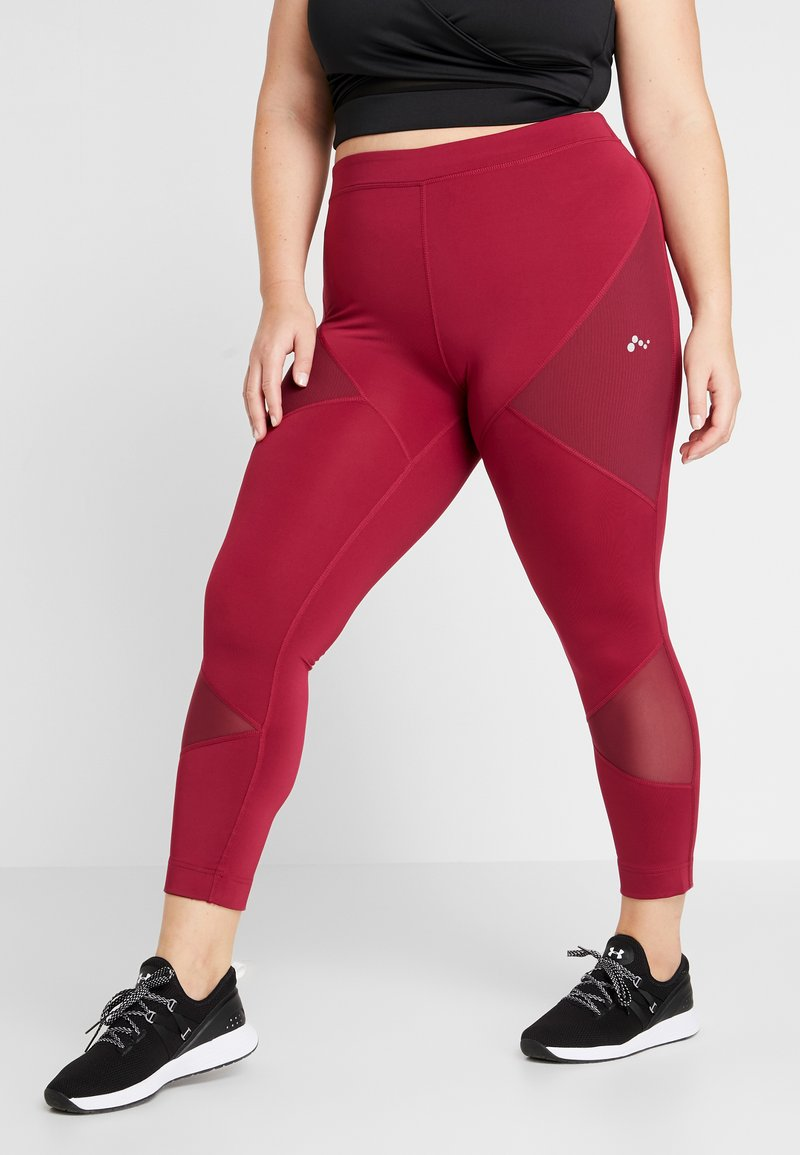 ONLY Play - ONPAUDREY TRAINING - Collants - beet red