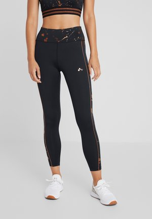 ONPGOLDIE TRAINING  - Legginsy - black/rose gold