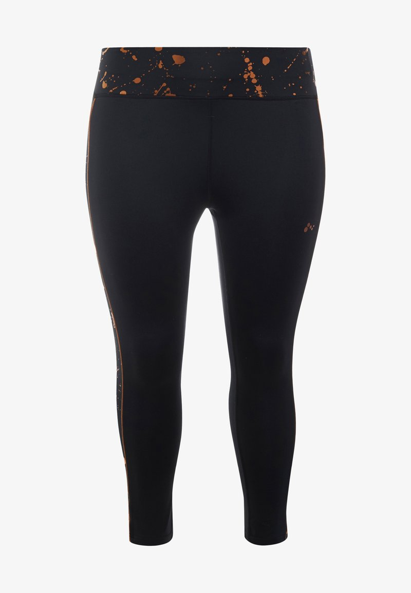 ONLY Play - ONPGOLDIE 7/8 TRAINING - Legginsy - black/rose gold