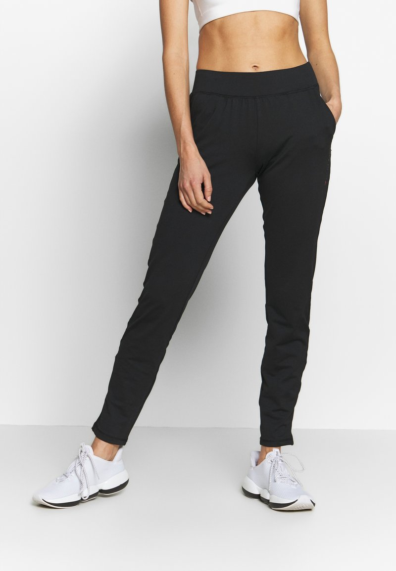 ONLY Play - ONPPERFORMANCE BAY SLIM PANTS - Tracksuit bottoms - black/red