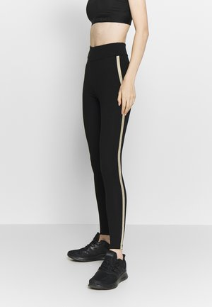 ONPJYNX LIFE - Legging - black/white gold