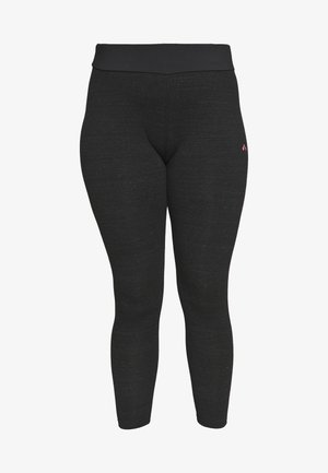 ONPANGIE LIFE LEGGINGS CURVY - Legging - black/strawberry pink