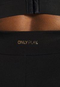 ONLY Play - ONPJYNX LIFE LEGGINGS - Legging - black/white gold - 4
