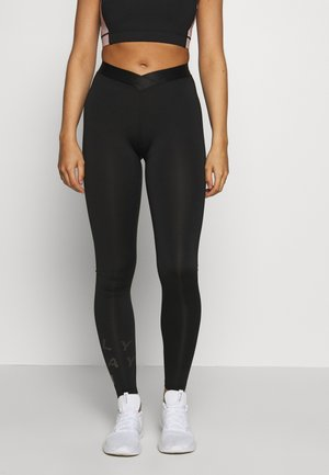 ONPMILEY TRAINING  - Leggings - black/white gold
