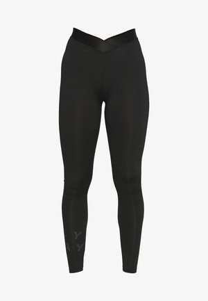 ONPMILEY TRAINING  - Legginsy - black/white gold