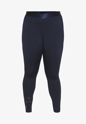 ONPMILEY TRAINING CURVY - Collants - maritime blue/white/gold