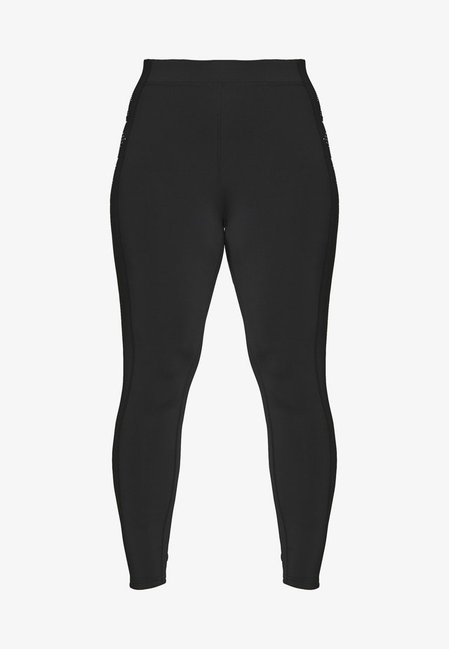 ONPFIONA TRAINING CURVY - Collant - black/white